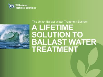 A Lifetime solution ballast water treatment