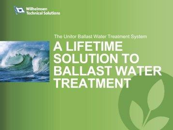 A Lifetime solution ballast water treatment
