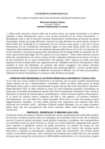 Introduzione Olimpia Tarzia - WWALF