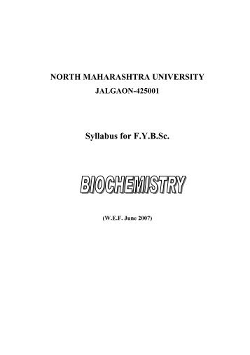 Syllabus for F.Y.B.Sc. - North Maharashtra University