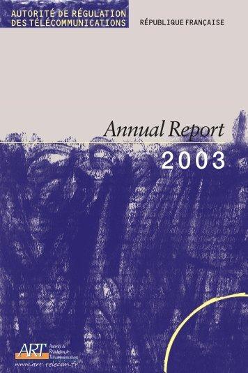 Annual Report - Arcep