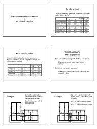 Dimensionamento delle sezioni e verifica di massima Carichi unitari ...