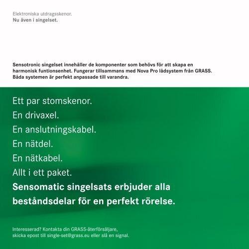 SENSOTRONIC – Elektroniska utdragsskenor.