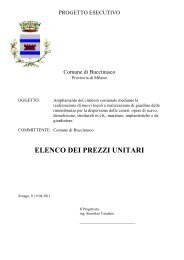 Elenco prezzi unitari - Comune di Buccinasco