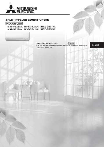 SPLIT-TYPE AIR CONDITIONERS - Mitsubishi Electric Australia