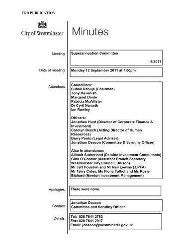 Open Minutes 12 Sept 2011.pdf - Westminster City Council