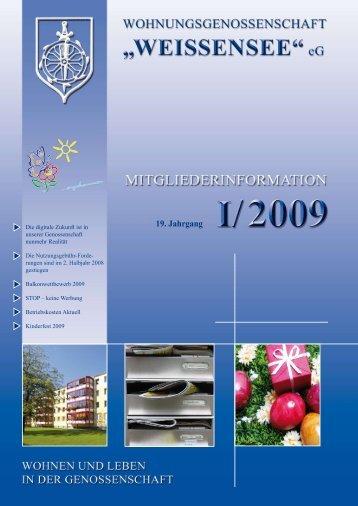 Mitgliederinformation I/2009 - Wohnungsgenossenschaft ...