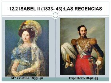 las regencias - Historia 2º de bachillerato