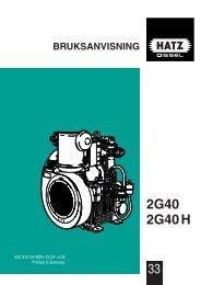 bruksanvisning 2g40 2g40 h - HATZ Diesel