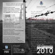 Depliant Giornata della Memoria 2010 - Comune di Pontedera