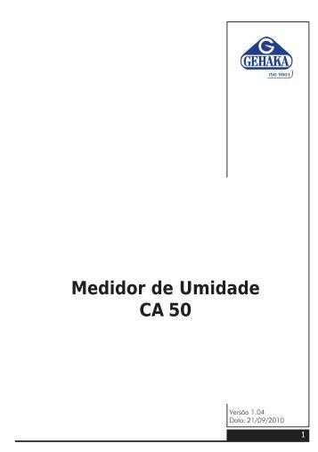 medidor de umidade ca50.pmd - Gehaka.com.br