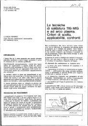 Le tecniche di saldatura TIG-MIG e ad arco plasma ... - Centro Inox
