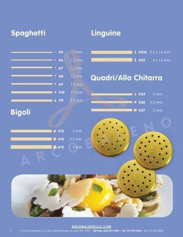 Spaghetti Bigoli Quadri/Alla Chitarra Linguine - Arcobaleno