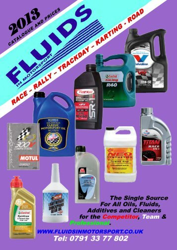 Download Catalogue - Fluids in Motorsport