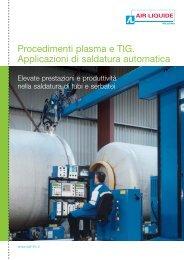 Procedimenti plasma e TIG. Applicazioni di saldatura automatica