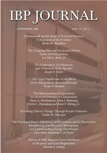 Journal Volume 33 no. 2 (2008) - the Integrated Bar of the ...