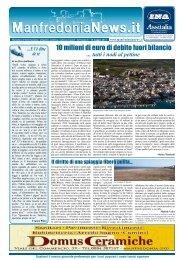 10 milioni di euro di debito fuori bilancio - ManfredoniaNews.it