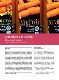 Alimentos ecológicos - Mercasa