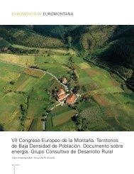 VII Congreso Europeo de la Montaña. Territorios de Baja Densidad ...