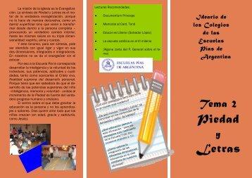 Piedad Letras - Escolapios de Argentina