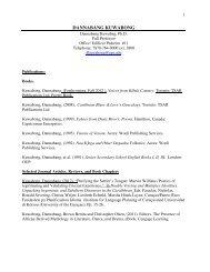 Curriculum vitae - Facultad De Humanidades