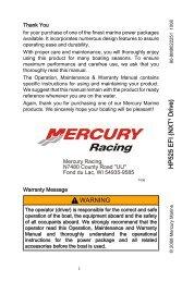 75/80/90/100/115 EFI FourStroke - Mercury