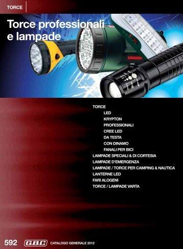 Torce professionali e lampade