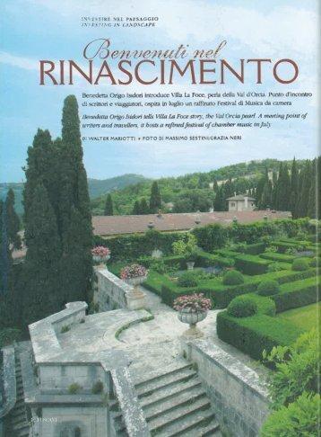 ' Benedetta Orìgo Isidori introduce Villa La Foce, perla della V111 ...