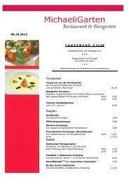 Vorspeisen Suppen Salate - MichaeliGarten