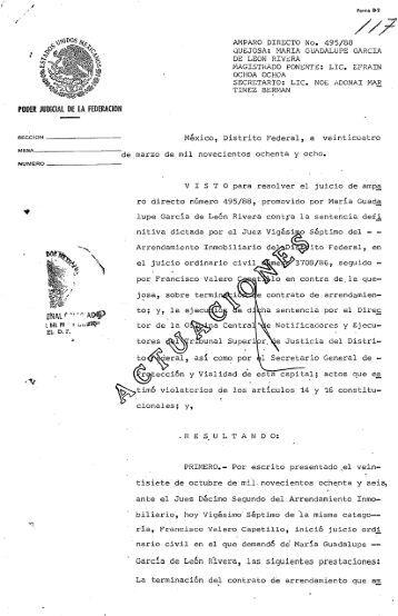 Amparo Directo 495/88 - Suprema Corte de Justicia de la Nación
