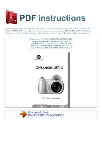 Konica Minolta DiMAGE A2 Instruction Manual