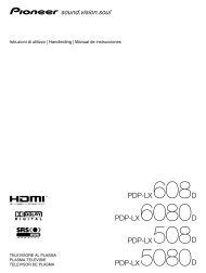 Pioneer PDP-LX6080D TV User Guide Manual - TV Lcd Plasma ...