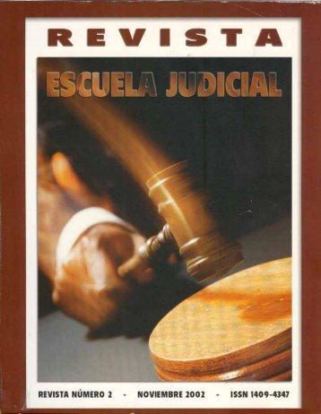 Page 1 Page 2 Revista Escuela Iudicîal REVISTA NÚMERO 2 ...