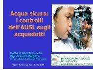 acqua - Azienda USL di Reggio Emilia