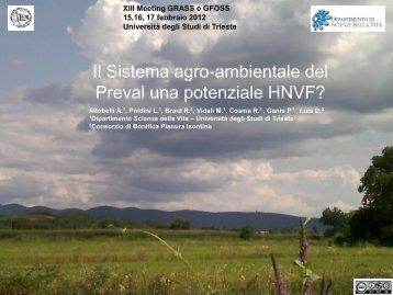 Il Sistema agro-ambientale del Preval una potenziale HVNF?