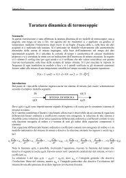 Taratura dinamica di termocoppie - ArchiMeDes