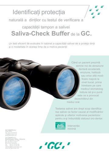Identificaţi protecţia Saliva-Check Bufferde la GC. - GC Europe