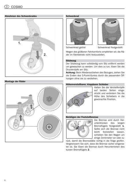 Bedienungsanleitung operating instructions mode d ... - 4mybaby AG