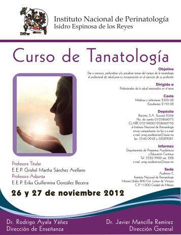 Curso de Tanatología - Instituto Nacional de Perinatología