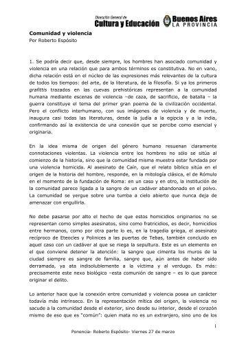 Ponencia Espósito - Dirección General de Cultura y Educación