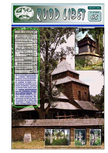 QUOD LIBET 65_07.2010(65). - stowarzyszenie przyjaciół przemyśla