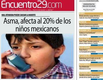 Asma, afecta al 20% de los niños mexicanos - Encuentro 29