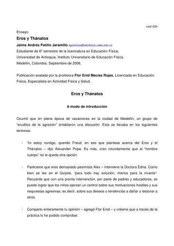 Eros y Thánatos - VIREF - Biblioteca Virtual de Educación Física ...