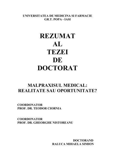 istoric medical fals comun