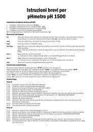 Istruzioni brevi per pHmetro pH 1500 - Eutech