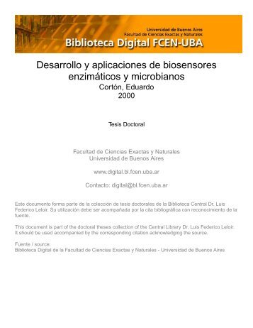 Desarrollo y aplicaciones de biosensores enzimáticos y microbianos