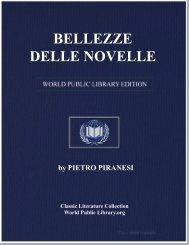 BELLEZZE DELLE NOVELLE - World eBook Library