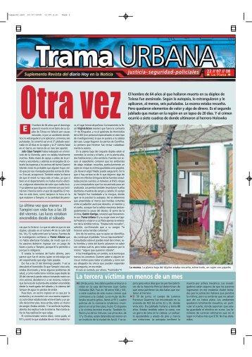 La tercera víctima en menos de un mes - Diario Hoy