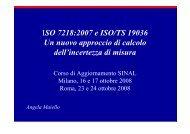 ISO 7218 2007 e INCERTEZZA-ISO TS 19036 SINAL ottobre 2008 ...