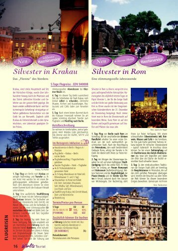 Silvester in Rom Silvester in Krakau - Wörlitz Tourist